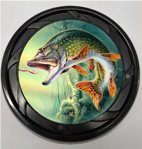 WHEELCHAIR & POWERCHAIR Personalised Spoke Guards PIKE FISHING Design